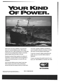 Maritime Reporter Magazine, page 19,  Dec 1994 Cummins Engine Company Inc.