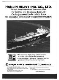 Maritime Reporter Magazine, page 35,  Dec 1994 HANJIN HEAVY INDUSTRIES CO