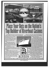 Maritime Reporter Magazine, page 3rd Cover,  Dec 1994 Alton Belle Casino