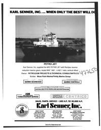 Maritime Reporter Magazine, page 4th Cover,  Feb 1997