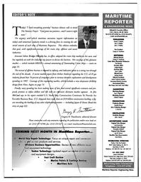 Maritime Reporter Magazine, page 6,  Feb 1997