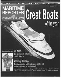 Maritime Reporter Magazine Cover Jan 1998 -