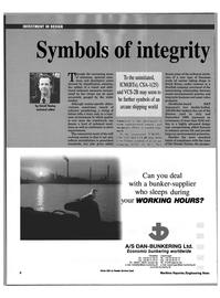 Maritime Reporter Magazine, page 9,  Feb 1999 A/S DAN- BUNKERING Ltd.