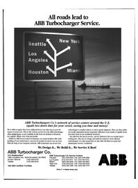 Maritime Reporter Magazine, page 28,  Feb 1999 ABB Turbocharger Service