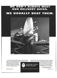 Maritime Reporter Magazine, page 2nd Cover,  May 1999 Newport News shipbuilding