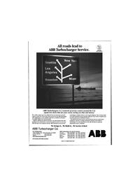 Maritime Reporter Magazine, page 77,  Jun 1999 ABB Turbocharger Service