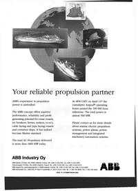 Maritime Reporter Magazine, page 34,  Jul 1999 marine electric propulsion systems