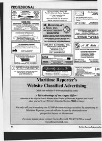 Maritime Reporter Magazine, page 84,  Jul 1999