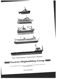 Maritime Reporter Magazine, page 3rd Cover,  Jul 1999 Repairs Eastern Shipbuilding Group