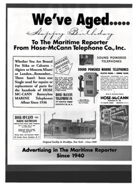 Maritime Reporter Magazine, page 48,  Oct 1999 Hose-McCann Telephone Co.