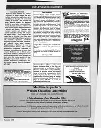 Maritime Reporter Magazine, page 125,  Nov 1999 Carrie Rivera
