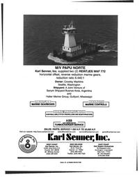 Maritime Reporter Magazine, page 4th Cover,  Nov 1999 Es