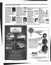Maritime Reporter Magazine, page 40,  Nov 1999 10S New England Marine Since 1976