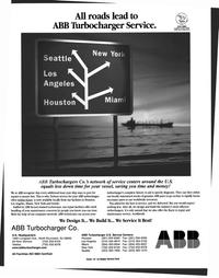 Maritime Reporter Magazine, page 61,  Nov 1999 ABB Turbocharger Service