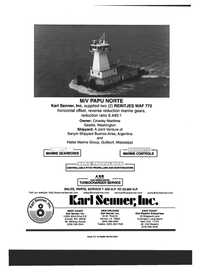 Maritime Reporter Magazine, page 4th Cover,  Dec 1999 M/V PAPU NORTE Karl Senner Inc.