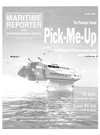 Maritime Reporter Magazine Cover Jan 2000 -