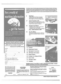 Maritime Reporter Magazine, page 2,  Jan 2000
