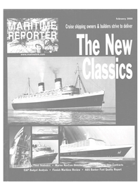 Maritime Reporter Magazine Cover Feb 2000 -
