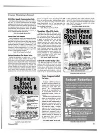 Maritime Reporter Magazine, page 43,  Feb 2000