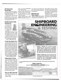 Maritime Reporter Magazine, page 57,  Feb 2000