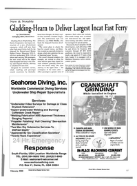 Maritime Reporter Magazine, page 4th Cover,  Feb 2000
