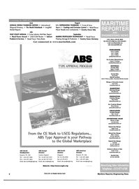 Maritime Reporter Magazine, page 4,  May 2000 New York