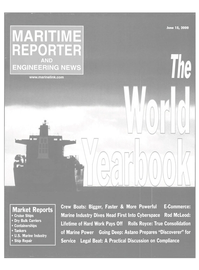 Maritime Reporter Magazine Cover Jun 15, 2000 -