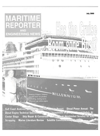Maritime Reporter Magazine Cover Jul 2000 -