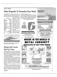 Maritime Reporter Magazine, page 57,  Jul 2000 24 HOURS