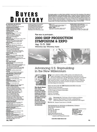 Maritime Reporter Magazine, page 61,  Jul 2000 47130 COMPOSITES PROCESSING Composite Technology