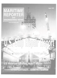 Maritime Reporter Magazine Cover Aug 2000 -