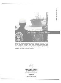 Maritime Reporter Magazine, page 23,  Aug 2000 Newport News shipbuilding