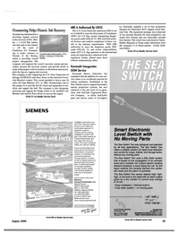 Maritime Reporter Magazine, page 29,  Aug 2000 North Carolina