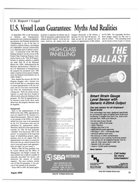 Maritime Reporter Magazine, page 31,  Aug 2000 U.S. Department of Transportation
