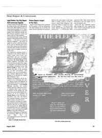 Maritime Reporter Magazine, page 4th Cover,  Aug 2000 Norbert Platz