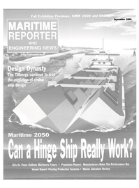 Maritime Reporter Magazine Cover Sep 2000 -