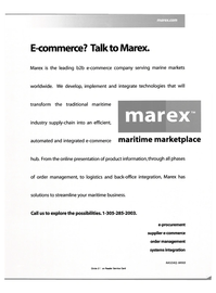 Maritime Reporter Magazine, page 1,  Oct 2000 e-procurement supplier