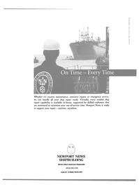 Maritime Reporter Magazine, page 47,  Oct 2000 Newport News shipbuilding