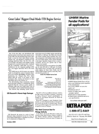 Maritime Reporter Magazine, page 4th Cover,  Oct 2000 Michigan