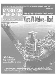 Maritime Reporter Magazine Cover Nov 2000 -