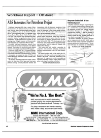 Maritime Reporter Magazine, page 42,  Nov 2000