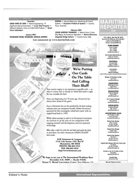 Maritime Reporter Magazine, page 4,  Nov 2000 Joe Trubinsky