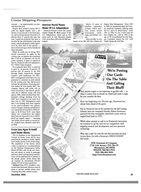 Maritime Reporter Magazine, page 28,  Dec 2000 United States