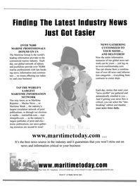 Maritime Reporter Magazine, page 4th Cover,  Dec 2000
