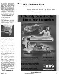 Maritime Reporter Magazine, page 13,  Jan 2001