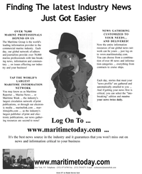 Maritime Reporter Magazine, page 1,  Jan 2001
