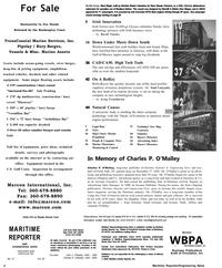 Maritime Reporter Magazine, page 2,  Jan 2001