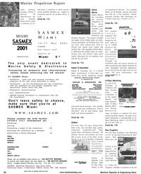 Maritime Reporter Magazine, page 48,  Jan 2001