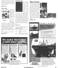 Maritime Reporter Magazine, page 49,  Jan 2001 electric motor-driven equipment