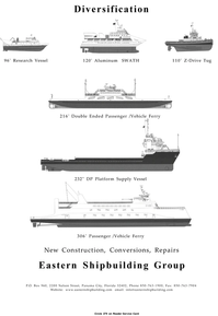 Maritime Reporter Magazine, page 3rd Cover,  Jan 2001 Repairs Eastern Shipbuilding Group